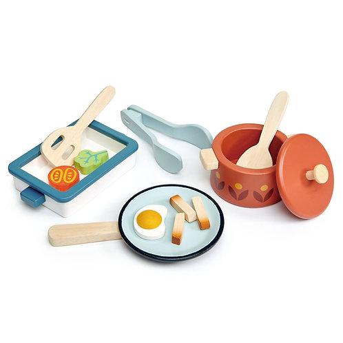 Wooden Pots & Pans Set