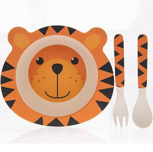 Tiger Bamboo Eating Set