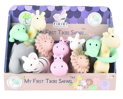Tikiri My 1st Safari Natural Rubber Rattle/Bath Toys