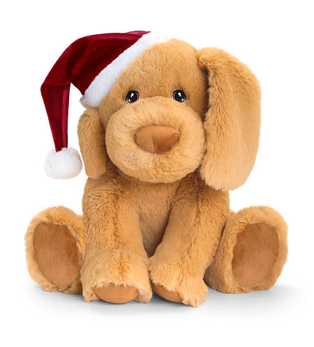 Keeleco Festive Puppy 100% Recycled Teddy