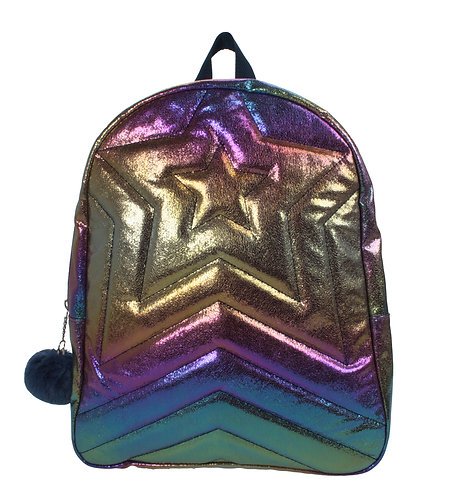 Rainbow Quilted Star Backpack