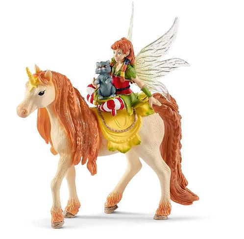 SCHLEICH Bayala Fairy Marween & Glitter Unicorn Figure