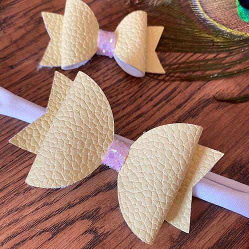 Handmade Bow Headband with Matching Mini Bow