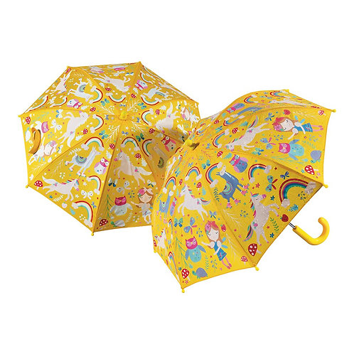 Magic Colour Changing Rainbow Fairy Unicorn Umbrella