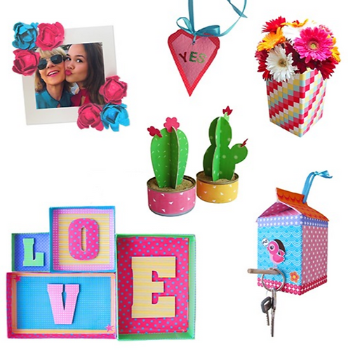 RecycleMe Hearts & Flowers Room Decor