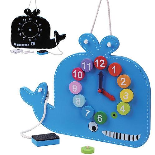 Blue Whale Clock & Blackboard