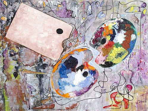 Abstarct Art Oil on Canvas - Gamification_1