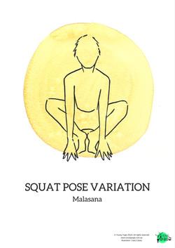 quat pose variation malasana