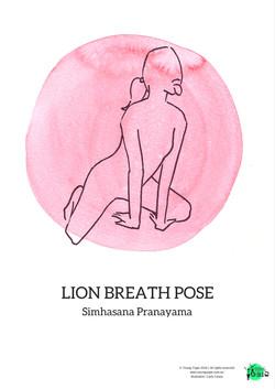 lion breath pose simhasana pranayama