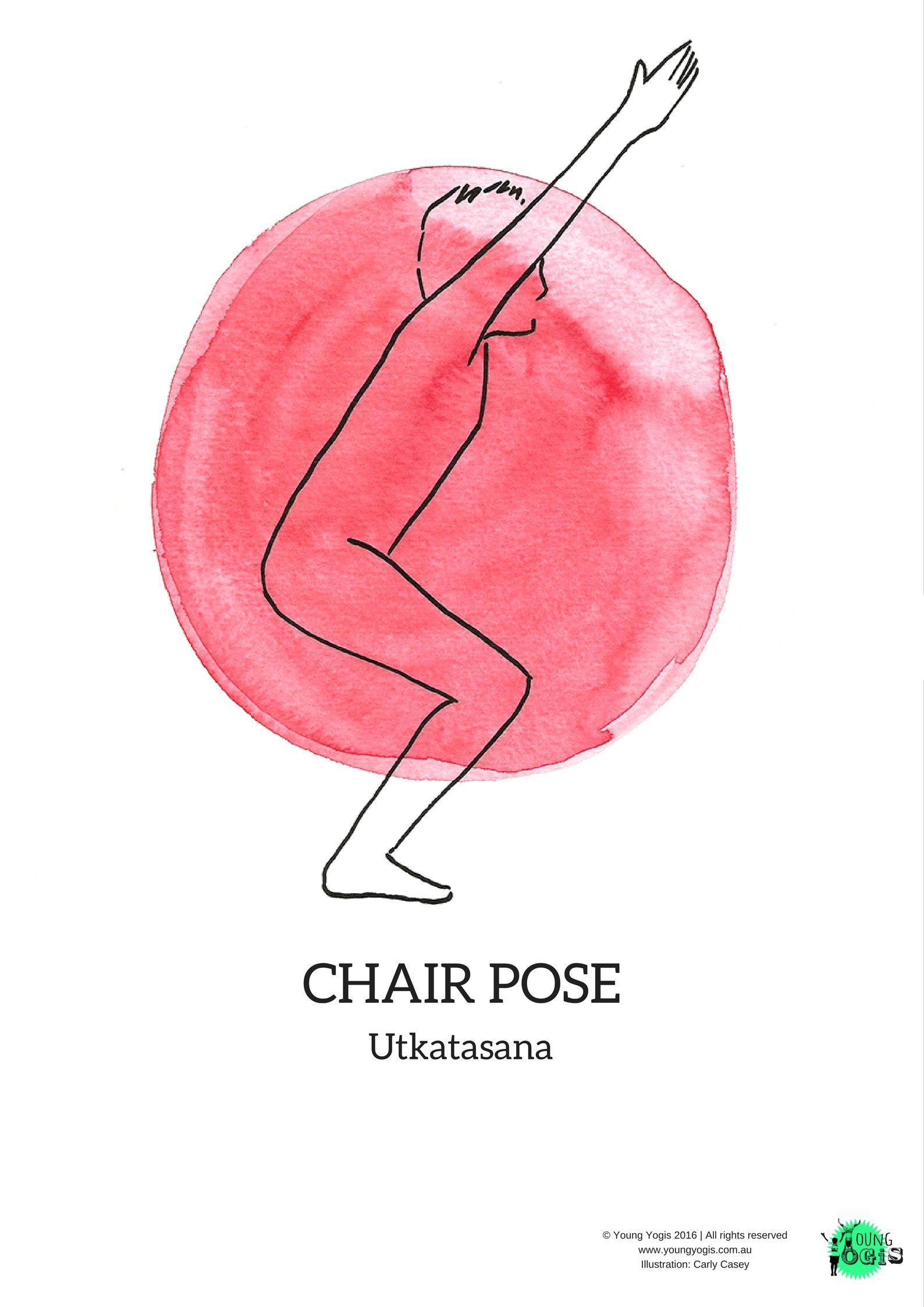 chair pose utkatasana