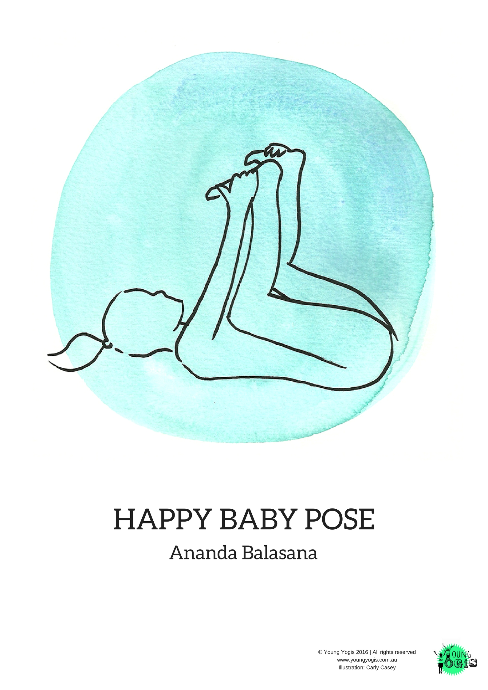 happy baby pose ananda balasana