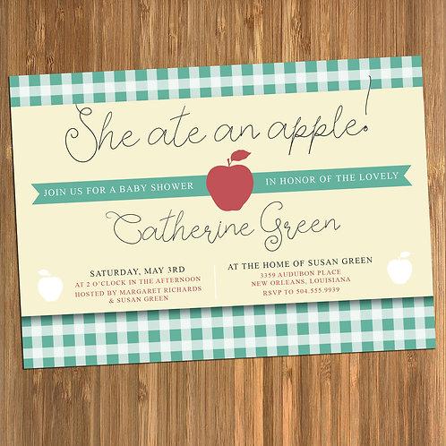 Gilmore Girls Apple Baby Shower Invitation