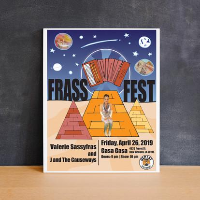 Frass Fest Poster, New Orleans, LA