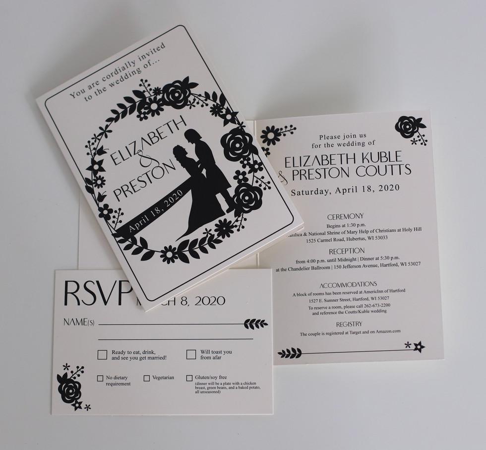 Silhouette Wedding Invitation Suite
