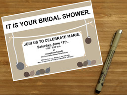 The Office TV Show Shower Invitation