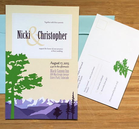 Nicki + Chris Wedding Stationery