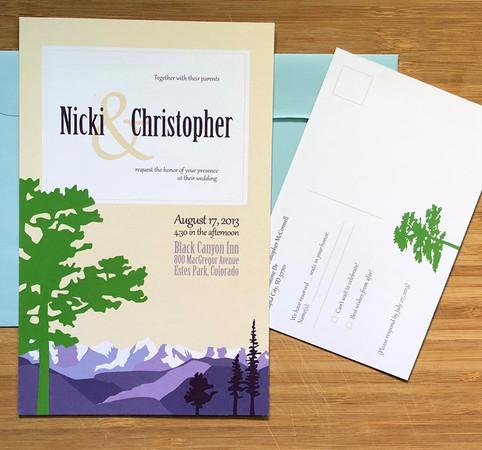 Nicki + Chris Wedding Stationery