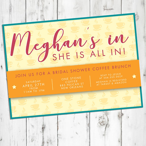 Gilmore Girls Coffee Brunch Bridal Shower / Engagement Party Personalized In