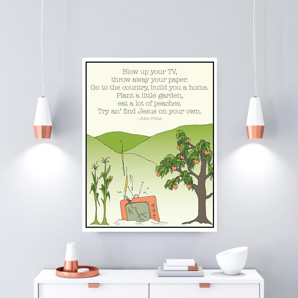 John Prine Lyrics Poster