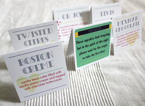 Wedding Menu Cards, Arlington, Va