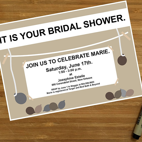 The Office TV Show Themed Personalized Bridal Shower Invitation