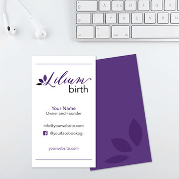 Lilium Birth, doula logo design