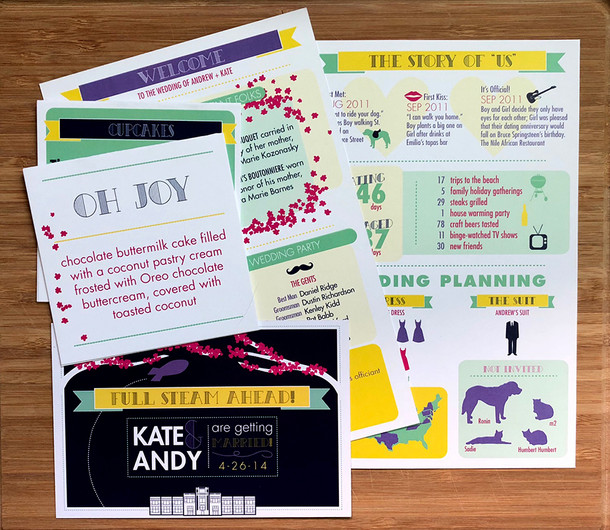 Kate + Andy Wedding Stationery