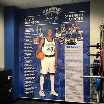 UNO Basketball Wall Graphics Design