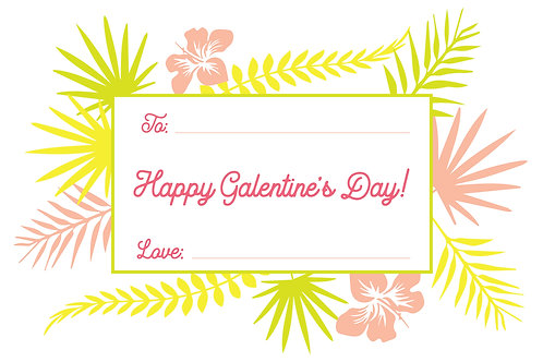 Galentine's Day Grown Girls Tropical Valentine