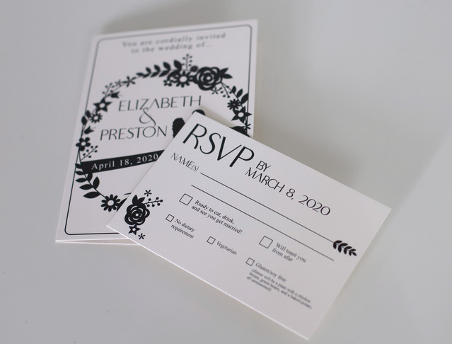 Silhouette Wedding Invitation Suite