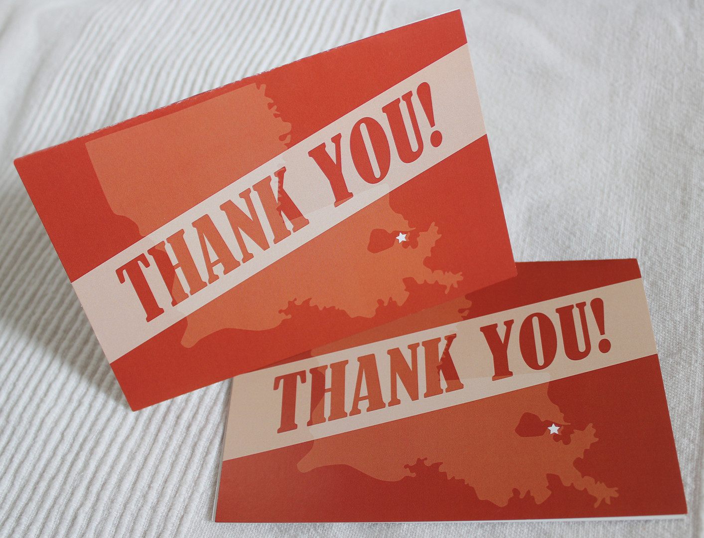 Louisiana Thank You Card Stationery Design