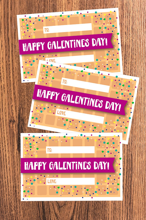 Galentine's Day Waffle Theme Valentine