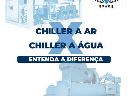 Sistemas de Água Gelada: Chillers com condensação à ar x condensação à água