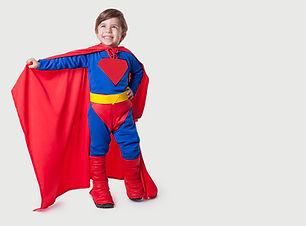 kid superhjälte kostym