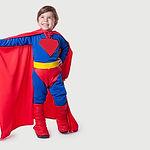 traje de super-herói criança
