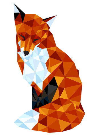 GEOMETRIC FOX TATTOO