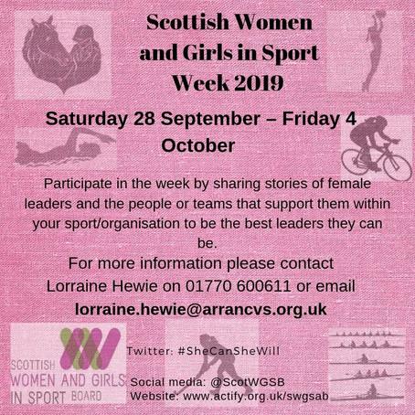 Scottish Women and Girls in Sport Week 2019