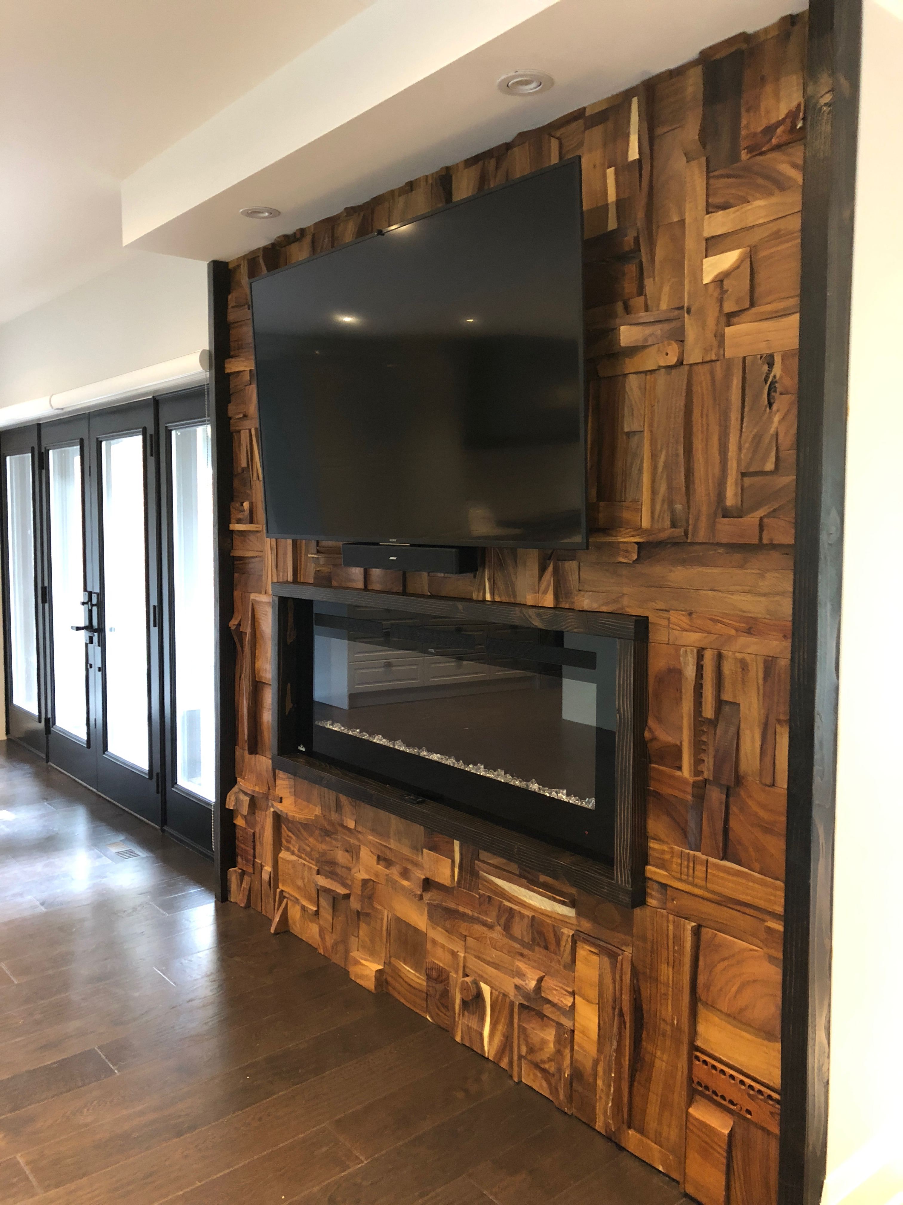 unique fireplace wall mount