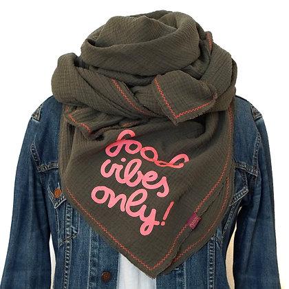 "Sale ★ NeckWrap ""Fluffy Musselin"" ★ Armeegrün - Pink"