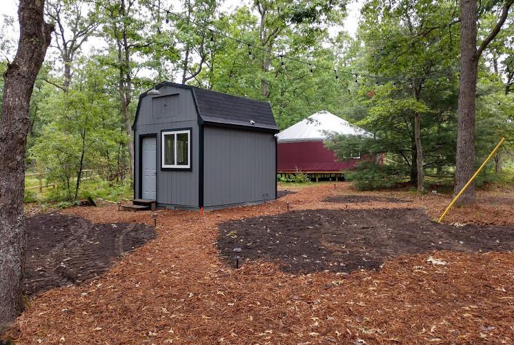 Bath House and Yurt