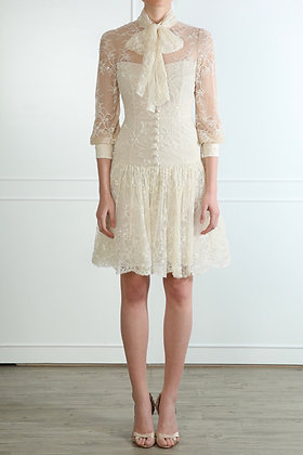 Ivory Lace Party Dress