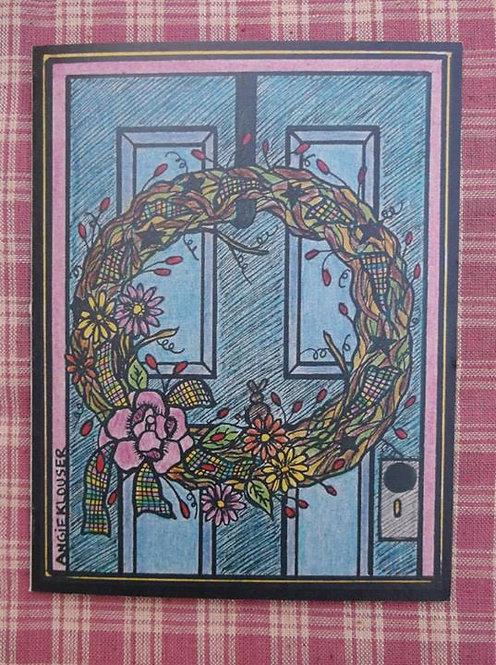FRONT DOOR ....Get Well Soon card .... color