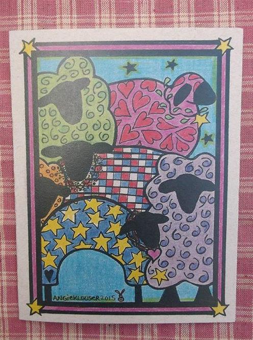 SHYS SHEEP .... Encouragement card .... color