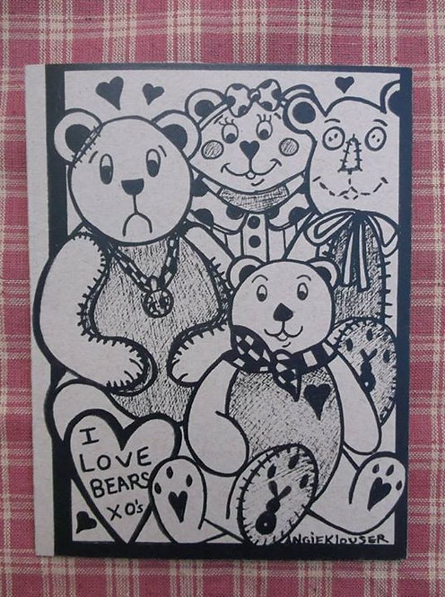 BUBBAS BEARS .... Friend card .... ink