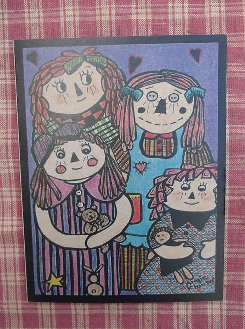 COUNTRY CUTIE DOLLS .... Friend card .... color