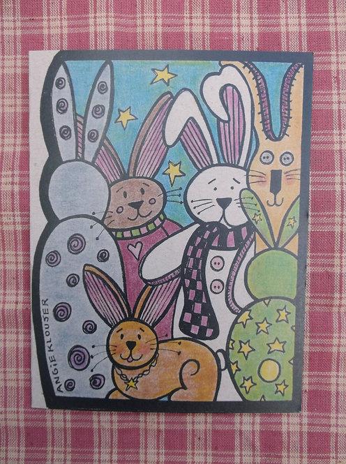 FUNNY BUNNY .... Birthday card .... color