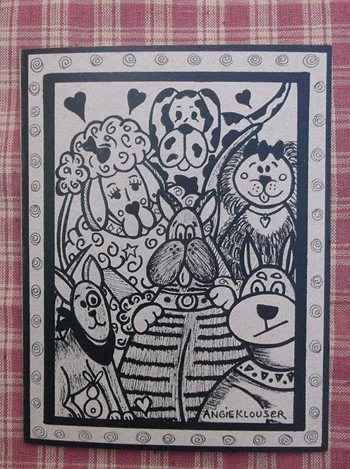 DIRTY DAWGS ....Encouragement card ....ink