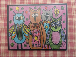 AWESOME OWLS ... COLORED