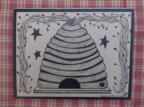 HONEY COMB .... Encouragement card .... ink