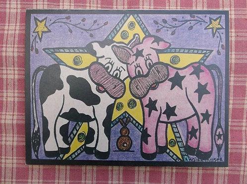 COW PALS .... Encouragement card .... color